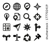 map  gps and navigation icons...