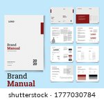 brand manual minimal and... | Shutterstock .eps vector #1777030784