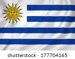 uruguay national flag... | Shutterstock . vector #177704165