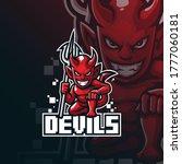devil mascot logo design vector ... | Shutterstock .eps vector #1777060181