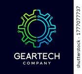 gear technology vector logo...   Shutterstock .eps vector #1777077737