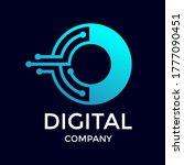 letter o technology logo. font... | Shutterstock .eps vector #1777090451