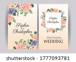 wedding invitation with squares ... | Shutterstock .eps vector #1777093781