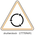 rounded triangle shape hazard...