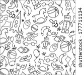 seamless pattern can be used... | Shutterstock . vector #177711134