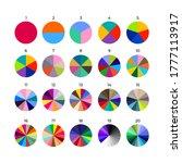 set of segmented circles.... | Shutterstock .eps vector #1777113917