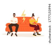 offended woman and man sitting...   Shutterstock .eps vector #1777153994