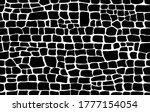crocodile skin pattern. black... | Shutterstock .eps vector #1777154054