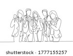 one continuous line drawing... | Shutterstock .eps vector #1777155257