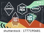 line art geometric emblems on... | Shutterstock .eps vector #1777190681