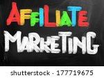 affiliate marketing concept | Shutterstock . vector #177719675