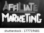 affiliate marketing concept | Shutterstock . vector #177719681