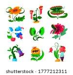 set of monster plants icons ... | Shutterstock .eps vector #1777212311