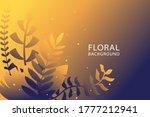 floral background natural... | Shutterstock .eps vector #1777212941
