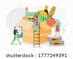 food donation box  vector flat... | Shutterstock .eps vector #1777249391