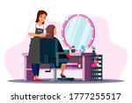 beauty salon scene....   Shutterstock .eps vector #1777255517