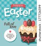 easter greeting card | Shutterstock .eps vector #177726599