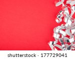 red new year background with... | Shutterstock . vector #177729041