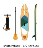 inflatable sup board isolated... | Shutterstock .eps vector #1777295651