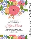 wedding invitation template...   Shutterstock .eps vector #1777303994