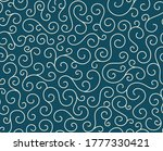 retro seamless wave lines... | Shutterstock .eps vector #1777330421