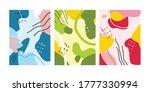 set of three abstract memphis... | Shutterstock .eps vector #1777330994