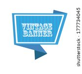 vector abstract vintage origami ... | Shutterstock .eps vector #177734045