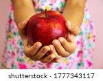 Red  Organic Apple In Girl...