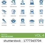 dental icons including tongue...   Shutterstock .eps vector #1777365704