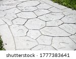 Printed Grey Concrete Path...