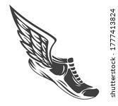hand drawn silhouette running...   Shutterstock .eps vector #1777413824