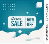 vector illustration winter sale ... | Shutterstock .eps vector #1777433291