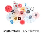 abstract vector fantastic... | Shutterstock .eps vector #1777434941