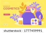 cosmetics concept flyer  web...