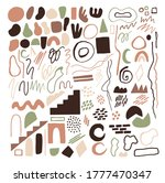 set of hand drawn abstract... | Shutterstock .eps vector #1777470347