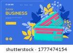 bank plastic card concept flyer ...