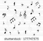 beautiful music background with ... | Shutterstock .eps vector #177747575
