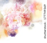watercolor flowers | Shutterstock . vector #177749369
