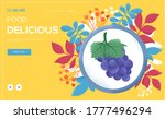 grape concept flyer  web banner ...