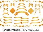 autumn color elegant ribbon set ... | Shutterstock .eps vector #1777522661