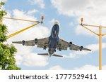 Large Passenger Jet On Landing...