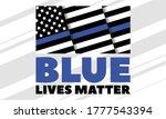 blue lives matter.this is a...   Shutterstock .eps vector #1777543394