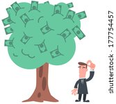 businessman with money tree   Shutterstock .eps vector #177754457