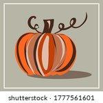 fall  autumn. mushrooms. leaves....   Shutterstock .eps vector #1777561601