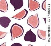 figs seamless pattern.... | Shutterstock .eps vector #1777580831