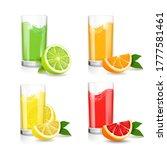 fresh citrus juice in glass....   Shutterstock . vector #1777581461