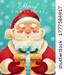 merry christmas santa claus... | Shutterstock .eps vector #1777584917