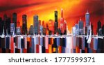 Night Colorful City By The...