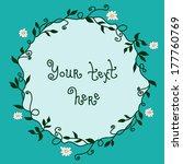plant wreath | Shutterstock .eps vector #177760769