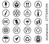 package box symbols set....   Shutterstock .eps vector #1777659194